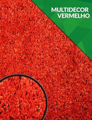 Grama Sintética Vermelha - Multidecor 12mm - m²